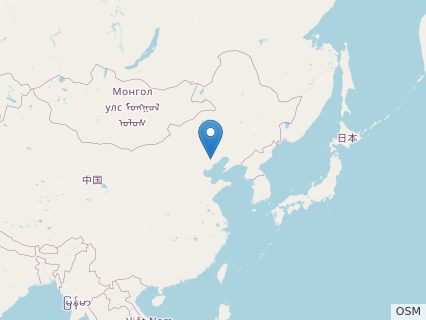 Locations where Qinglongopterus fossils were found.