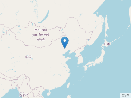 Locations where Zhongornis fossils were found.