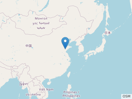 Locations where Zhuchengceratops fossils were found.